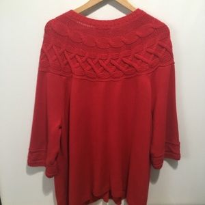 CJ Banks Sweaters - CJ Banks long cable knit sweater. Size 3X